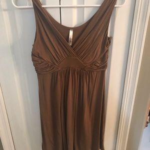 Never worn, tan Gilli Mini Dress